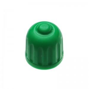 Ventilkappe, Plastik, grün, m. Dichtung