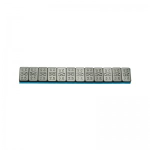 Klebegew. Pkw Stahl Riegel 12x2,5g flach
