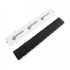 Klebegewicht Stahl Riegel 12 x 5g schwarz mit Lohmann Tape