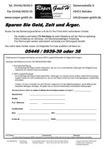 SEPA-Lastschriftformular