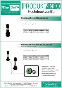 Hochdruck-Ventil Produktinformation