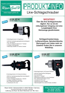 Lkw-Schlagschrauber Produktinformation