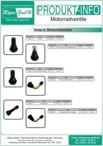 Motorrad-Ventile Produktinformation