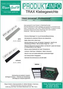 TRAX Klebegewichte Produktinformation