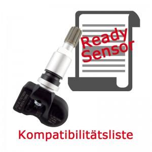 Ready-Sensor Kompatibilitätsliste